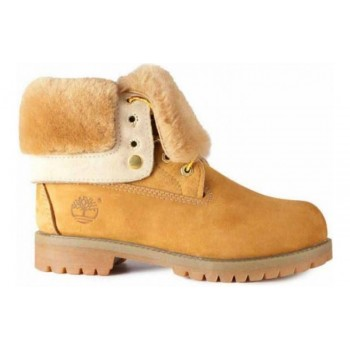 Ботинки женские Timberland Teddy Albina Yellow с мехом